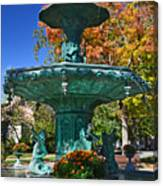 Madison Water Fountain In Fall Canvas Print