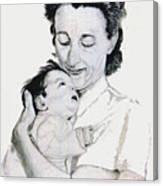 Madona And Baby Canvas Print