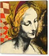 Madona Face Canvas Print