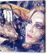 Madona Watercolor Canvas Print