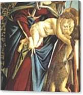 Madonna And Child And The Young St John The Baptist 1495 Canvas Print