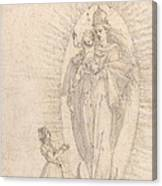 Madonna And Child Appearing To A Supplicant Canvas Print
