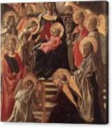 Madonna And Child Enthroned With Saints Fra Filippo Lippi Canvas Print