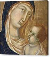 Madonna And Child Fragment  Canvas Print