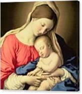 Madonna And Child Canvas Print