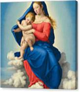 Madonna And Child In Glory Canvas Print