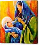 Madonna And Child Painting Canvas Print