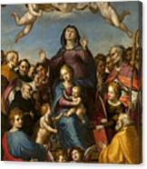 Madonna And Child With Saint Anne And The Patron Saints Of Florence Canvas Print