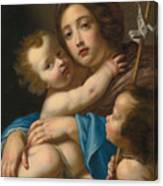 Madonna And Child With Saint John The Baptist Canvas Print