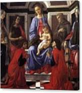 Madonna And Child With Six Saints Canvas Print