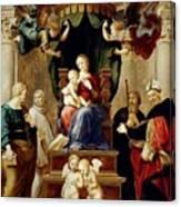 Madonna Del Baldacchino Raffaello Sanzio Da Urbino Raphael Raffaello Santi Canvas Print