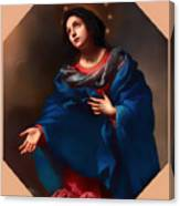 Madonna In Glory Canvas Print