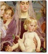 Madonna Of Giverny, 1901 Detail Canvas Print