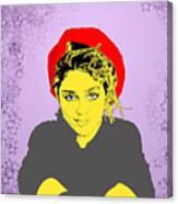Madonna On Purple Canvas Print