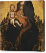 Madonna With Angels 1410 Canvas Print