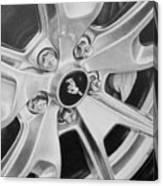 Mustang Mag Wheel Canvas Print