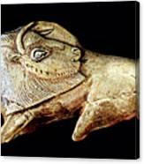 Magdalenian Carved Bison  Canvas Print