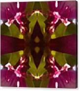 Magent Crystal Flower Canvas Print