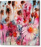 Magenta May Flowers Canvas Print