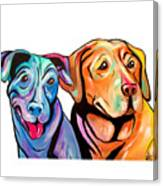 Maggie And Raven Canvas Print