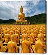 Magha Puja Memorial Buddhist Park Canvas Print