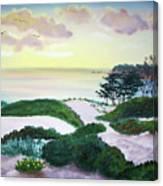 Magic Dawn At A Hidden Beach Canvas Print
