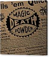 Magic Death Powder Canvas Print