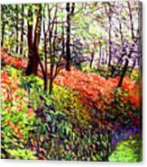 Magic Flower Forest Canvas Print