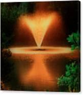 Magic Fountain  Hdr Canvas Print