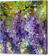 Magic In Purples And Greens Canvas Print