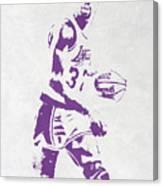 Magic Johnson Los Angeles Lakers Pixel Art Canvas Print