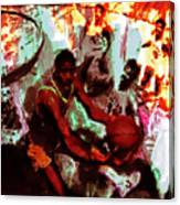 Magic Johnson Taking Flight Canvas Print