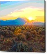 Magic Over Taos Canvas Print