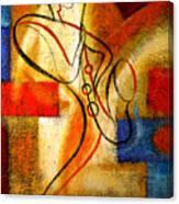 Magic Saxophone Canvas Print