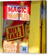 Magic Waffle Canvas Print