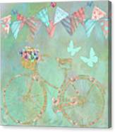 Magical Bicycle Tour Enchanted Happy Art Canvas Print