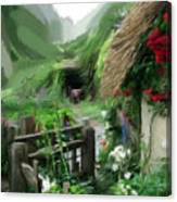 Magical English Mountain Cottage 2 Canvas Print