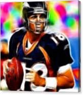 Magical Peyton Manning Borncos Canvas Print