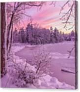 Magical Sunset After Snow Storm 1 Canvas Print