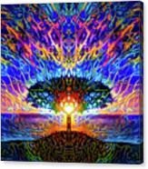Magical Tree And Sun 2 Canvas Print
