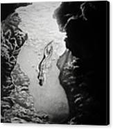 Magical Underwater Cave Canvas Print