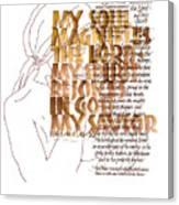 Magnificat Canvas Print