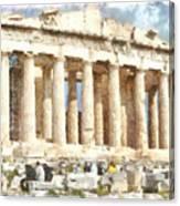 Magnificent Acropolis In Athens Canvas Print