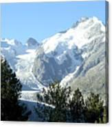 Magnificent Swiss Glacier Canvas Print