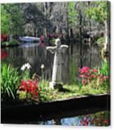 Magnolia Place Pond Canvas Print