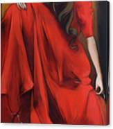 Magnolia's Red Dress Canvas Print