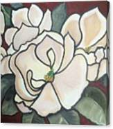 Magnolias Under Glass Canvas Print