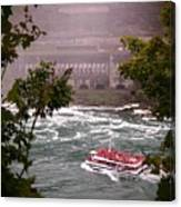 Maid Of The Mist Canadian Boat Canvas Print