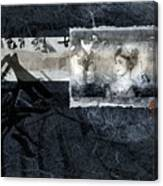 Maiko On Blue Canvas Print