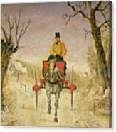 Mail Cart Christmas Canvas Print